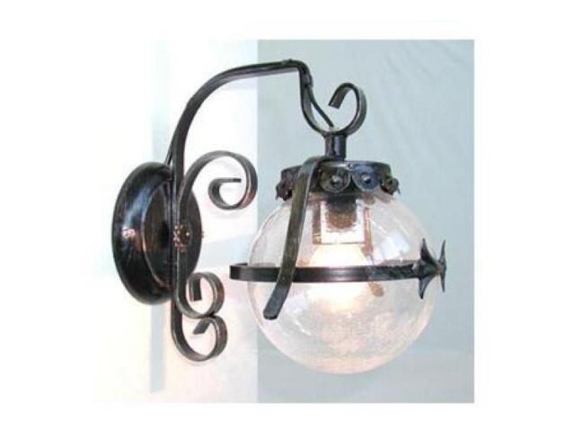Lanterna applique lampada sfera d.14 ferro battuto cruccolini