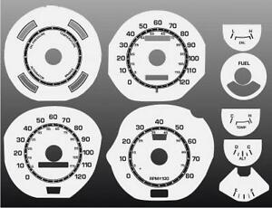 1971-1973-Ford-Mustang-Dash-Cluster-White-Face-Gauges-71-73