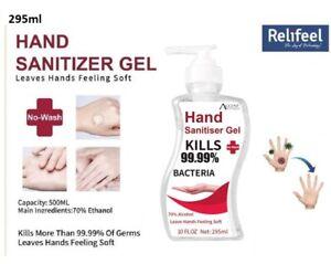 2-x-295ML-HAND-SANITISER-GEL-70-ALCOHOL-ANTIBACTERIAL-KILLS-99-99-GERMS