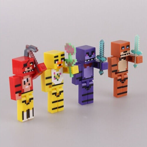 """Five Nights At Freddy/'s Birthday Cake Topper 4 pc Set 3/"""" PVC Action Figures"""