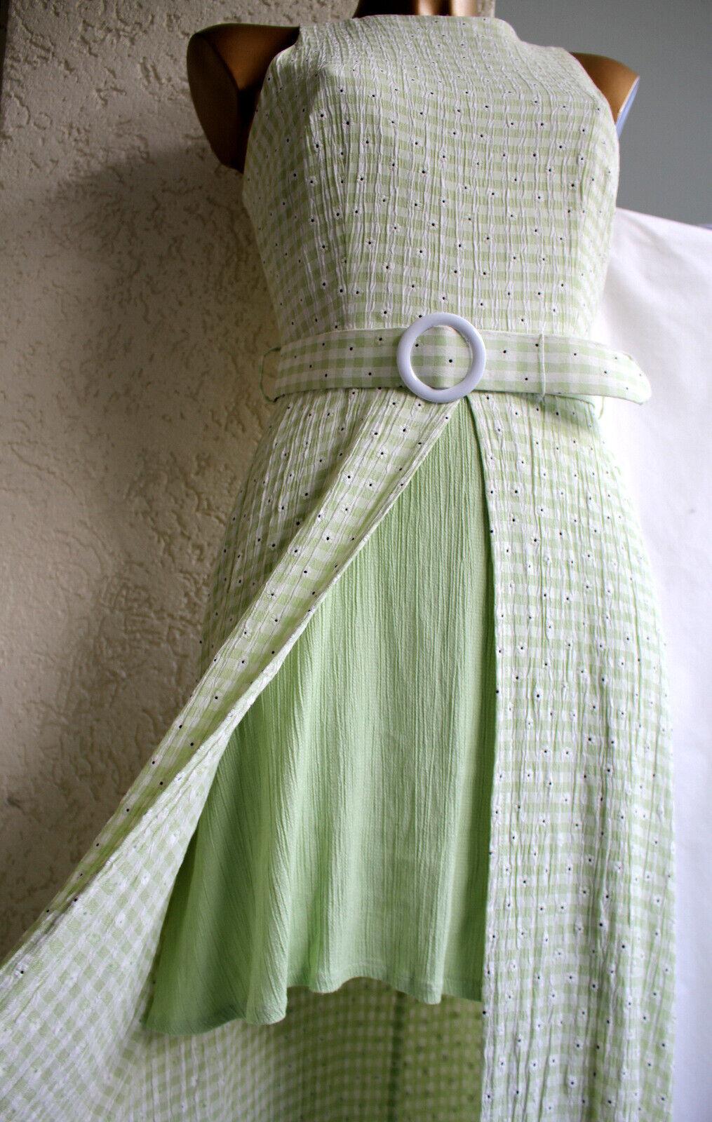 Joseph Ribkoff Sommer kleid im Lagen look grün weiß 36 wie neu