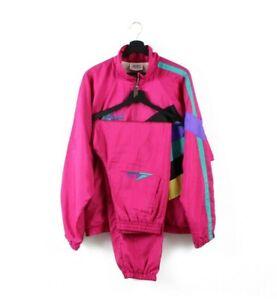 90s Alex Athletics vintage full tracksuit track jacket joggers pants rare L XL