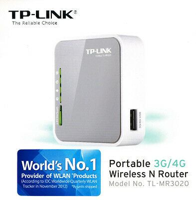 TP-LINK TL-MR3020 V3 Portable 3G 4G Sharing USB Modem Wireless N 300Mbps Router