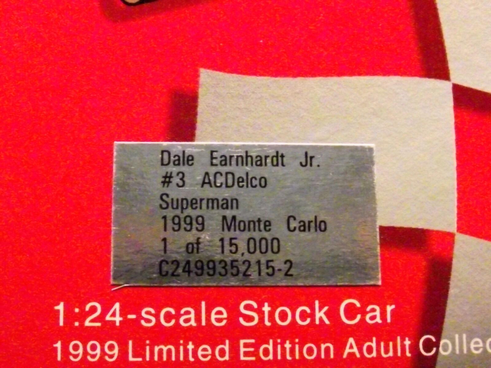 Dale Earndhardt Jr. AC Delco 1999 Monte Carlo Bank- Superman