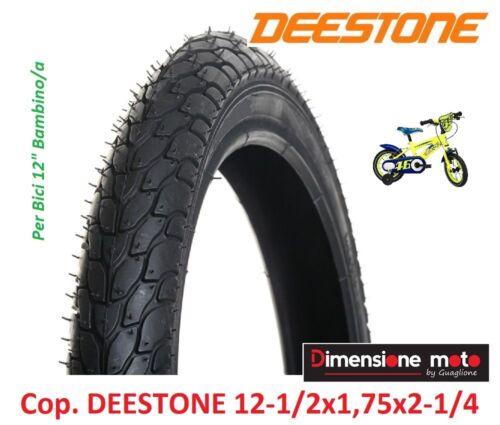 "D-818 Nero per Bici 12/"" Bambino//a 1 Copertone /""DEESTONE/"" 12x1//2x1,75 47-203"