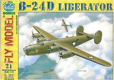 B-24 D Liberator huge paper card model 102cm wingspan 1:33 scale