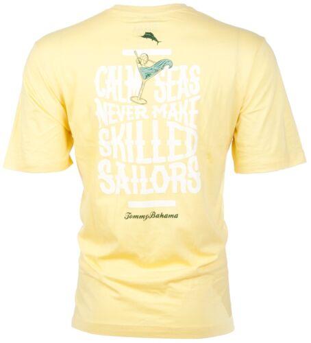 TOMMY BAHAMA Mens T-Shirt CALM SEAS Sailors Boat Martini YELLOW Camp XL-3XL $45