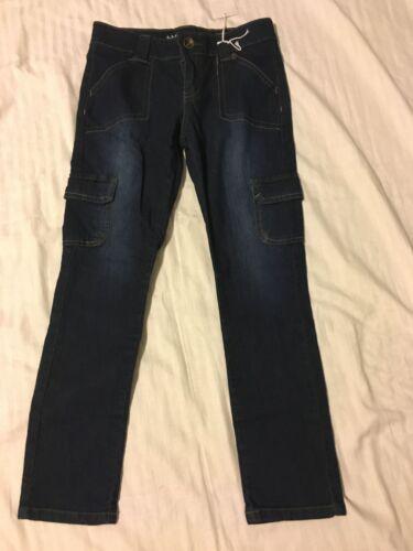 Skinny Drk 12 Hang Ten: Girl/'s Cargo Style 6x 10 Wash Pants: Blue