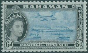 Bahamas-1954-SG208-6d-Transportation-QEII-MNH