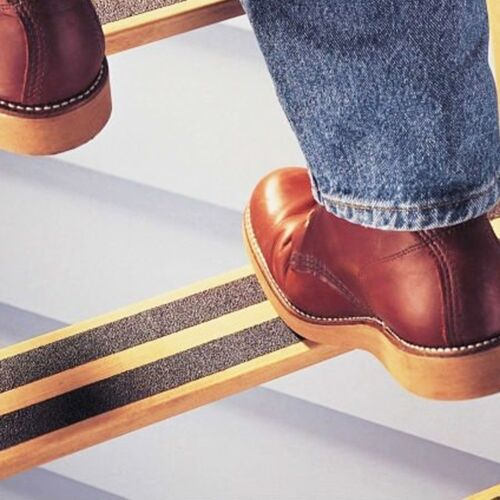 4x BLACK ANTI-SLIP TAPES 24mm x 5m High Grip Traction Skid Reduce Steps Ladder