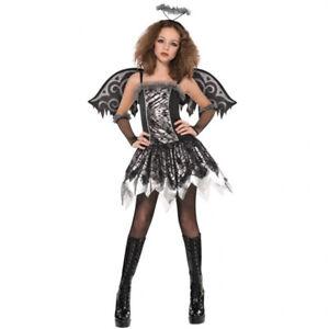 Schwarzer Engel Gr 158 Madchen Kinder Gefallener Engel Kostum
