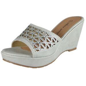e4ea7d84f Details about Womens Slip On Wedges Ladies Comfy Light Platform High Heel  Shoes Sandals Size