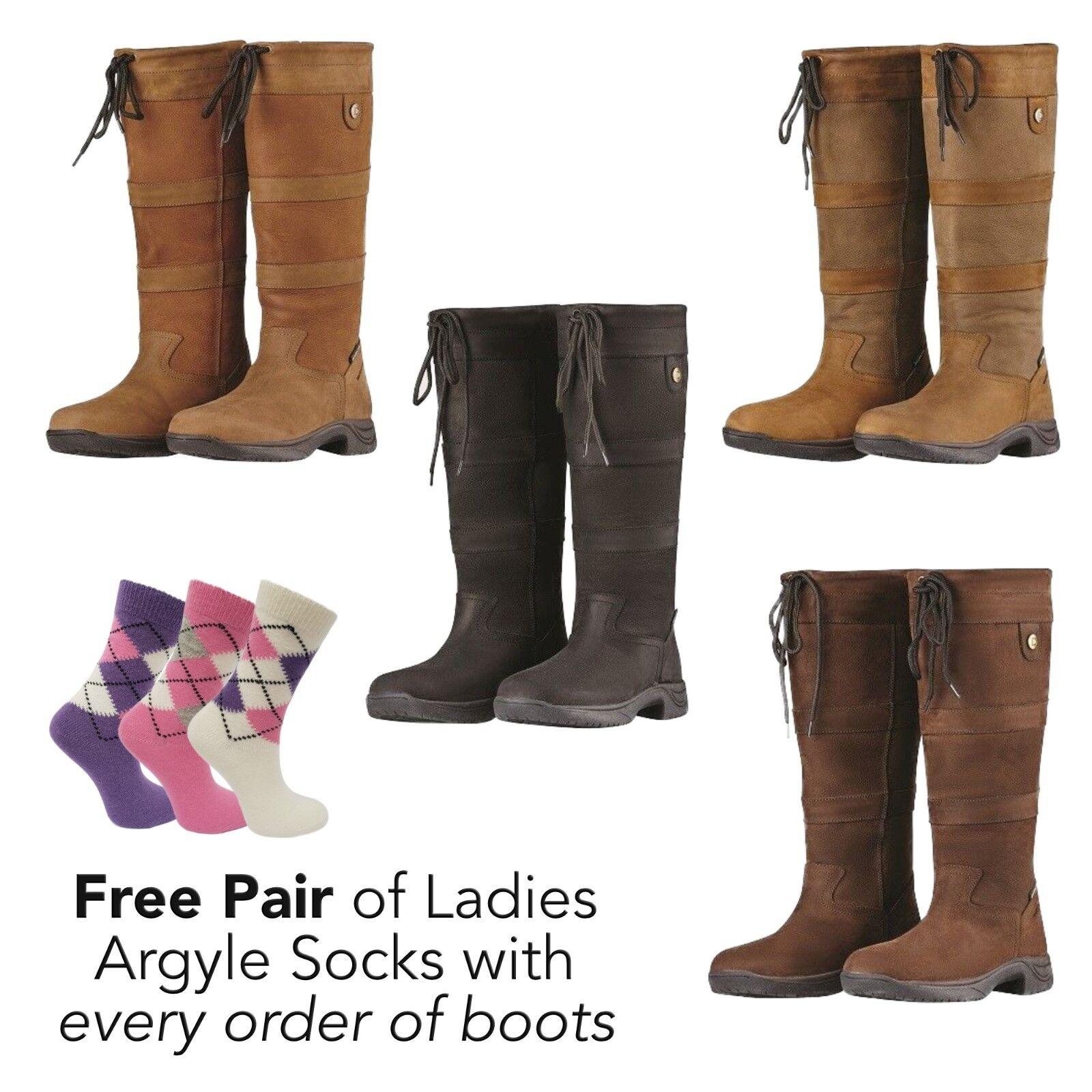 Dublin River Boots Waterproof Country Horse Riding Boot Reg Wide & X Wide Calf