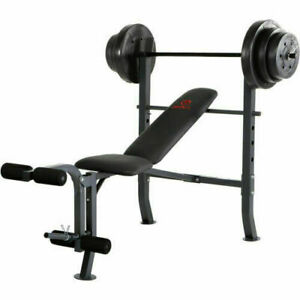 Standard Bench with 100lb Weight Set | Marcy Diamond Elite MD-2082W