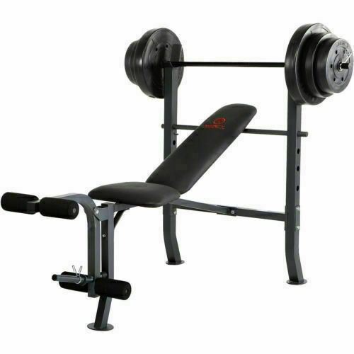 Marcy Md 2082w Diamond Elite Standard Bench With 100lb Weight Set For Sale Online Ebay