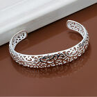 Sterling silver filigree design bangle cuff bracelet 925 silver