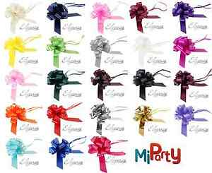 30mm-Pull-Bow-Wedding-Cars-Pew-Ends-Birthday-Party-Florist-Ribbons