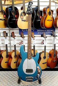2004-Ernie-Ball-Music-Man-SUB-Bass-in-Textured-Teal-USA-made-Stingray-bass