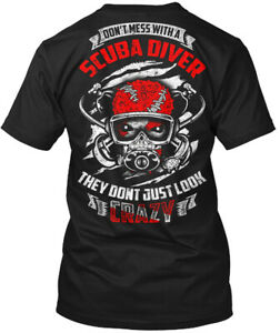 Comfy-Don-039-t-Mess-With-A-Scuba-Driver-They-Just-Hanes-Tagless-Tee-T-Shirt