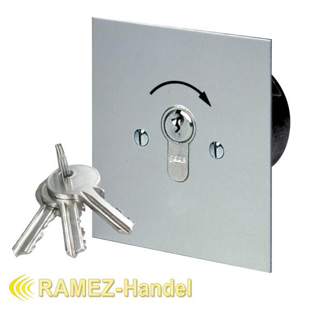 Schlüsseltaster Schlüsselschalter mit PHZ Tor Antrieb Motor Garagentor MSR1-1T