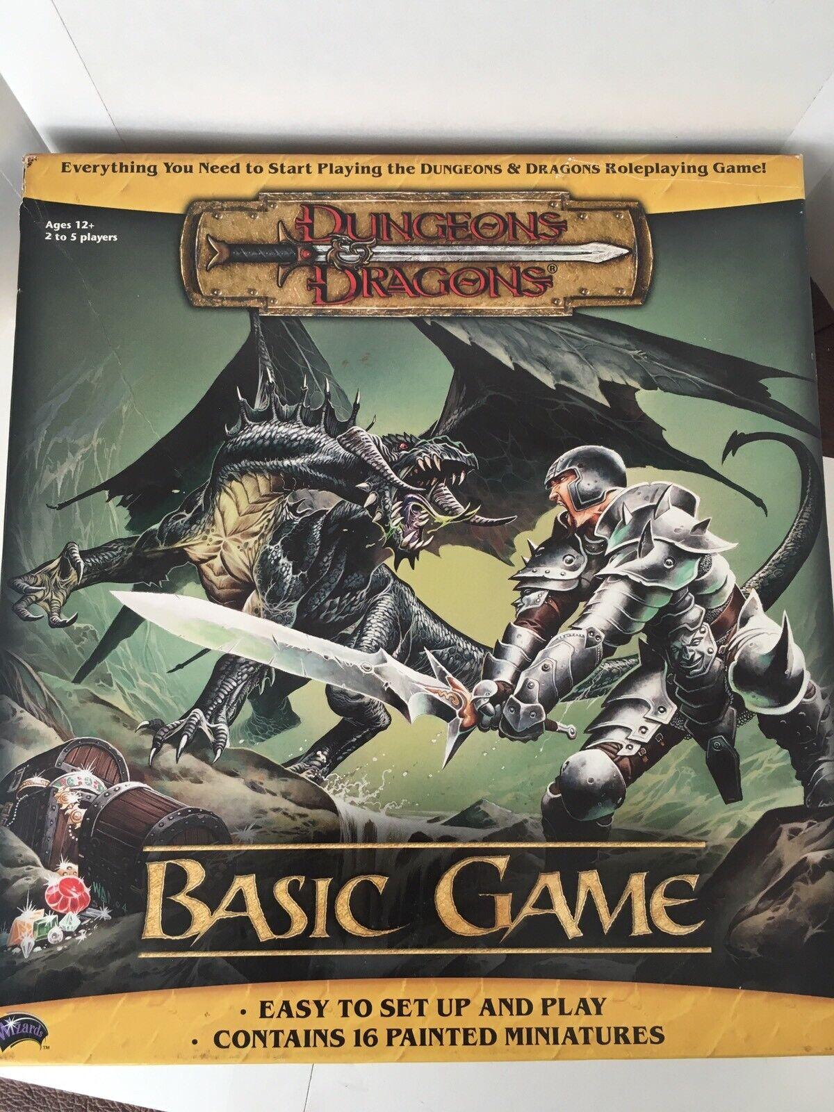 NEUF RARE 2004 Wizards DONJONS & DRAGONS jeu de base Original Neuf Scellé