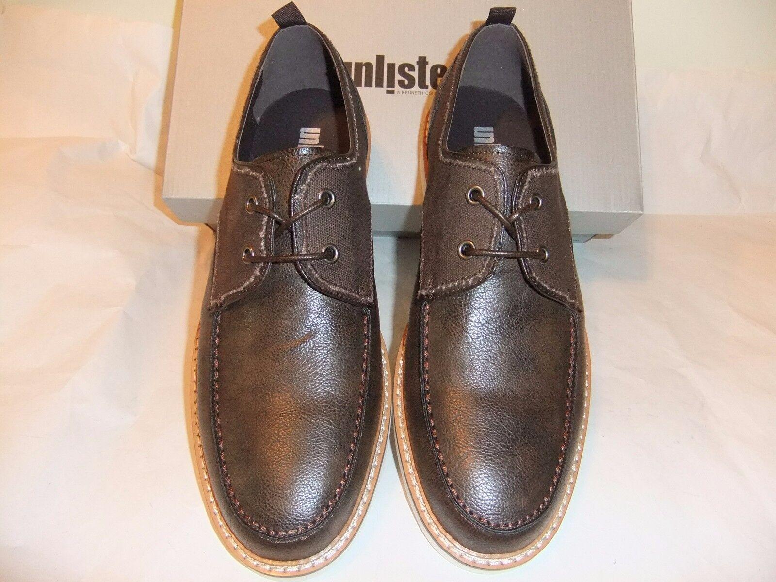KENNETH COLE Fun Mode Brown Leather Lace Up Oxford Comfort SZ 10.5 EU 44 NIB