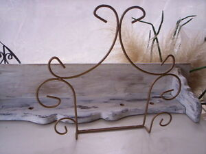 Image is loading Metal-book-holder-Metal-plate-holder-Vintage-plate- & Metal book holder/Metal plate holder/Vintage plate rack/Plate holder ...