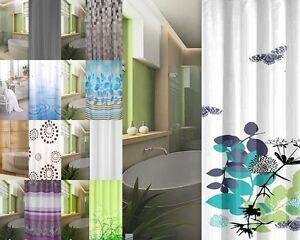 Tenda Doccia in Tessuto 240 x 200 Design Selezione Incl. Anelli Blu ...