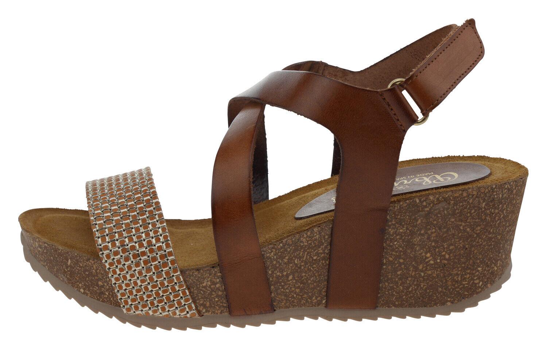 728bf0ddefd 107982-380 Abril Flowers Leder brown silver EUR 38 Plateausandalette 9423  ukguim924-Women s Sandals