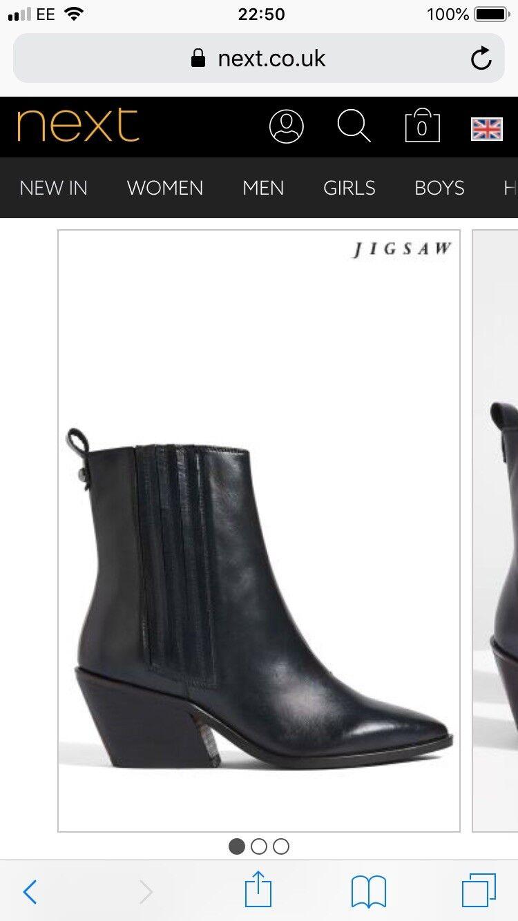 Womens Jigsaw bluee Hjorth Cowboy Boots Bnwob     5UK 63979e