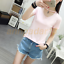 2017-Women-Short-Sleeve-Hollow-Round-Neck-T-Shirt-Casual-Loose-Tops-Blouse-NewW thumbnail 6