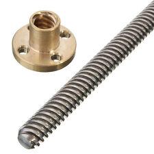 3D Printer T8 Lead Threaded Screw Rod Linear Rail Bar Shaft&Brass Nut 200mm
