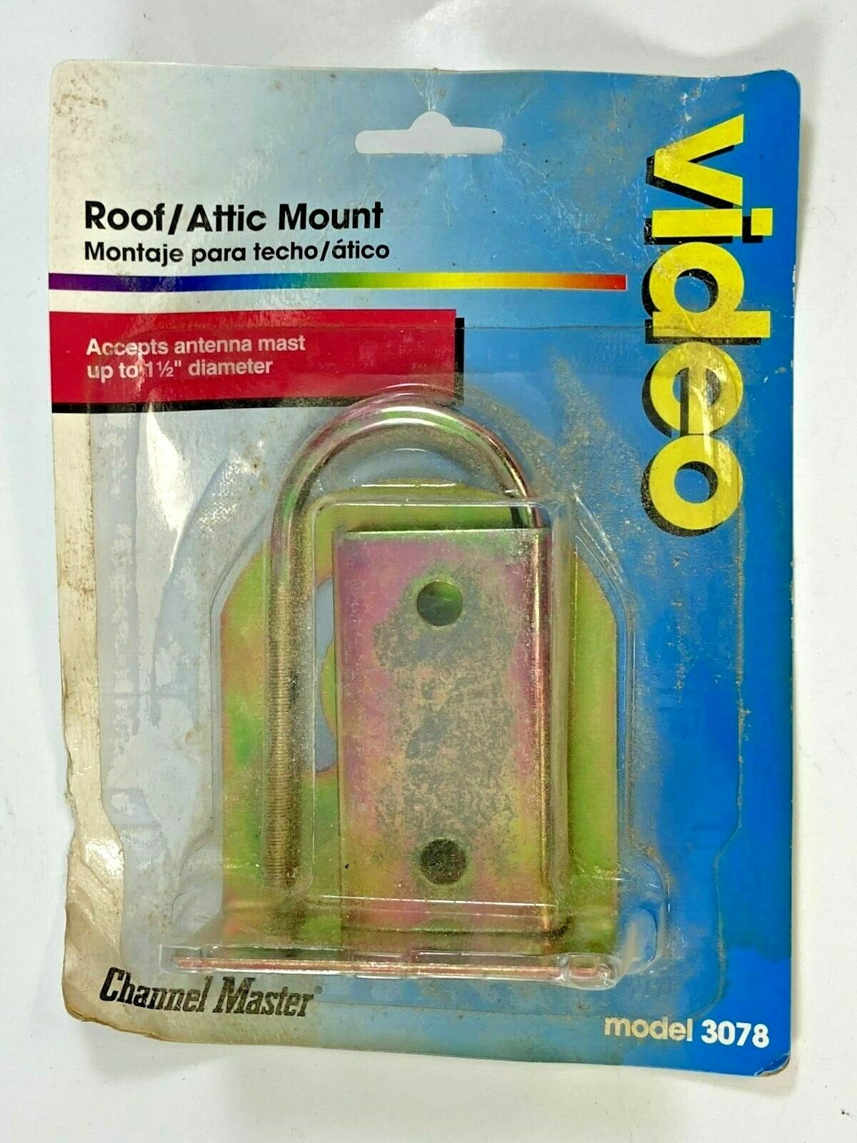 Channel Master Universal Antenna Mount for Roof or Attic Holds Mast Pole 3078. Available Now for 4.95