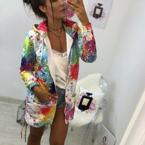 NEW Rainbow Colorful Spring Summer Pink Party Pop Art Coat Veste Sweater JACKET