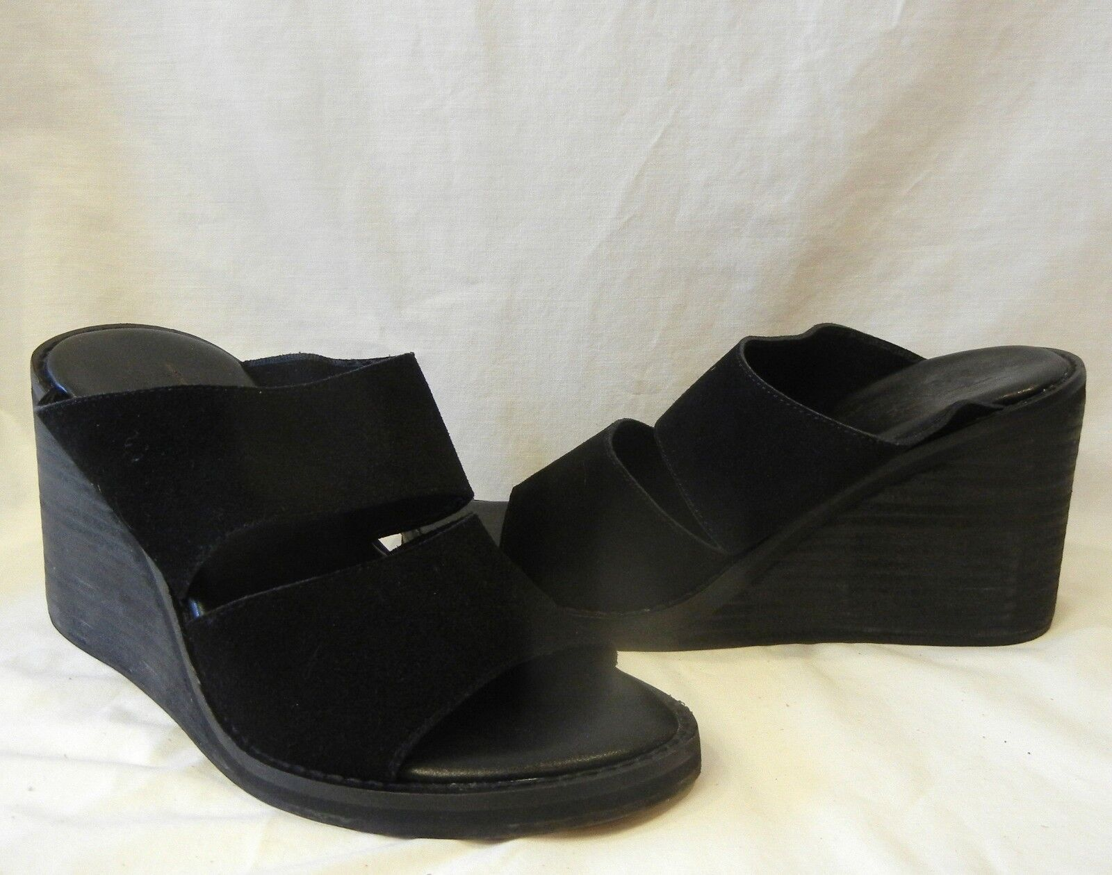 Free People People People donna's Strange Magic Suede Open Toe Wedge Sandal Retail  118 Dimensione 9 497822