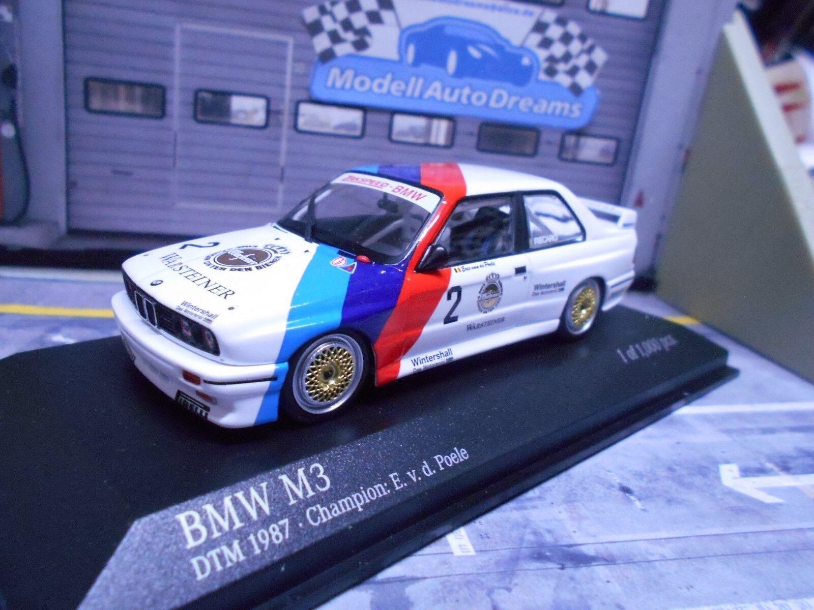 Bmw m3 e30 DTM etc 1987  2 van de poele Champion maestro Zak Minichamps rar 1 43