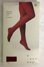 A New Day Black Footless Opaque Tights Womens Size M//L 50 Denier
