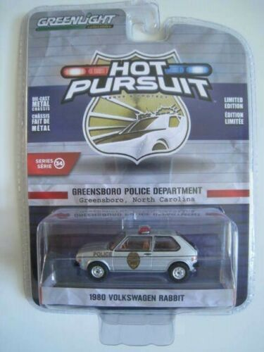 VW Rabbit  Greensboro Police Department  Hot Pursuit  Greenlight  1:64  OVP  NEU