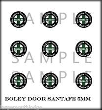 PEEL STICK BOLEY VEHICLE DOOR DECALS 1/87 SCALE BURLINGTON SANTA FE GREEN BLACK