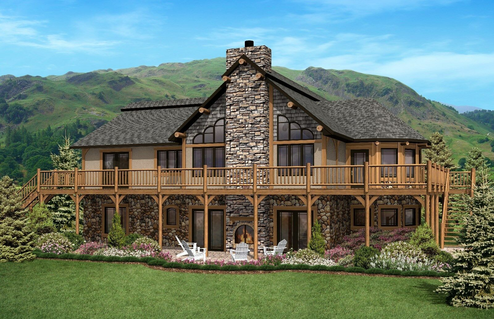 Ranch Home Plan 1861 Sq. Ft. 1 8 -1 4  Floor Plan Style Walkout Open Concept