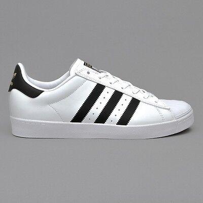 Adidas Originals Superstar Mens Trainers Vulc Adv White Black Navy UK Size | eBay