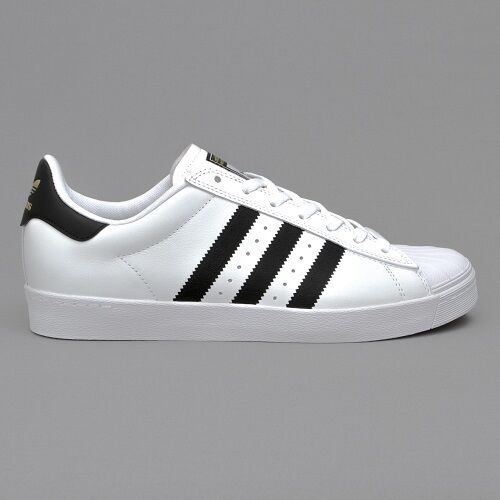 huge discount 3488f 6bc3f ... norway adidas originals mens superstar vulc adv skate shoes casual  white black uk 8 ebay f3b1f