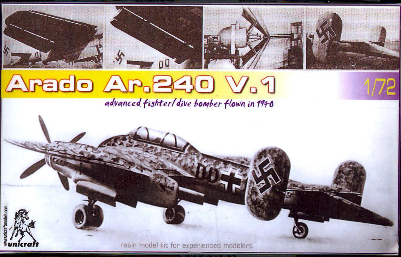 Unicraft Models 1 72 ARADO Ar-240 V.1 German Predotype Dive Bomber