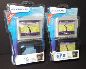 """2 SCOSCHE Universal GPS Skin Case Protector 3.5"""" Garmin Nuvi 205 TomTom Magellan"""
