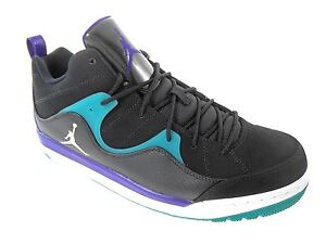 Mens Air Jordan Flight TR '97 Mid Black White Grape Ice Emerald Green Sz 10