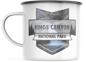 Kings Canyon California National Park 12 OZ Enamel Mug Campfire Mug Souvenir