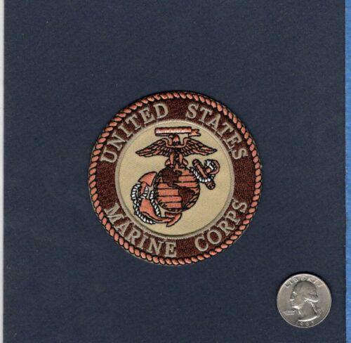 USMC United States Marine Corps  GLOBE /& ANCHOR Desert Tan Unit Squadron Patch