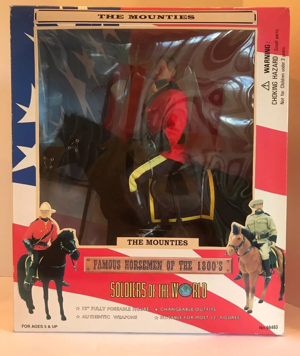 The Mounties Soldiers Of The World Famous Horsemen Of The 1800's NIB