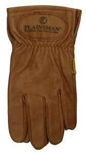 1-Pair-Plainsman-Premium-Goatskin-Cabretta-Brown-Leather-Gloves-S-XL-NEW