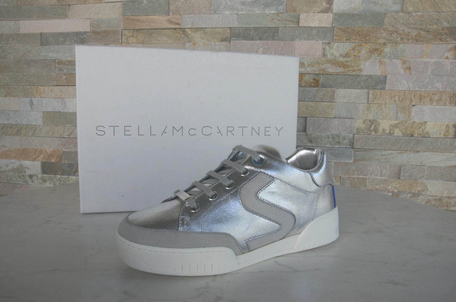 Stella McCartney 39 Argento Sneaker normalissime Slipper Scarpe Argento 39 Nuovo UVP 6f55e3